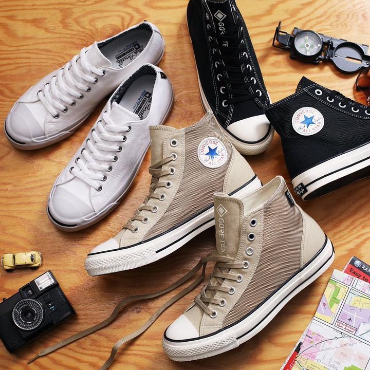 ✨日本限定CONVERSE  ALL STAR 100 ACTIVE HERITAGE GORE-TEX 奶茶色 高桶 防水 帆布鞋 靴 下雨✨