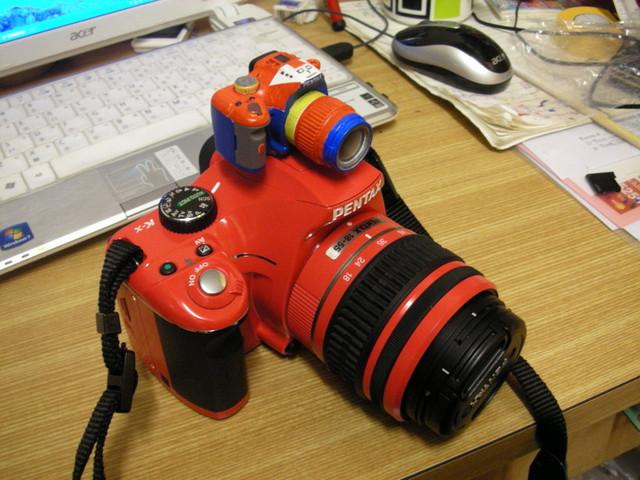 Pentax k-x 紅(不含コレジャナイロボ 小相機)