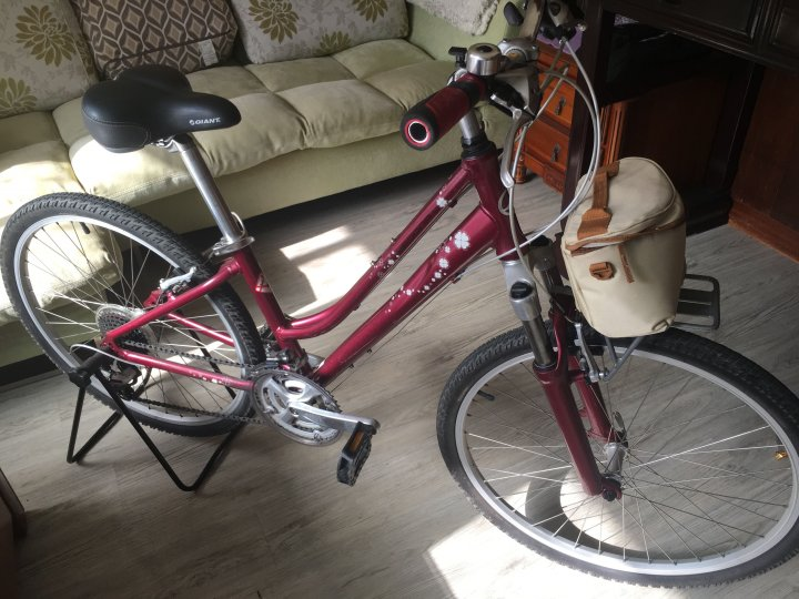 酒紅色捷安特女版旅行車SedonaL出售