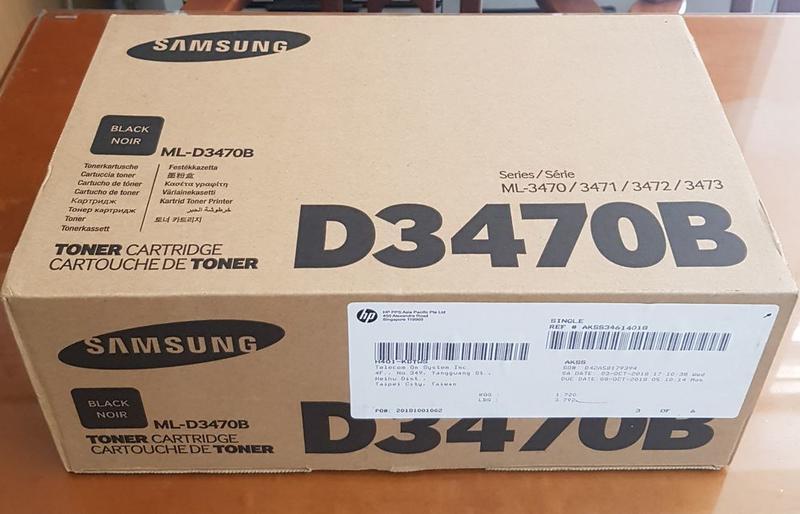【SAMSUNG】ML-D3470B原廠黑色碳粉匣