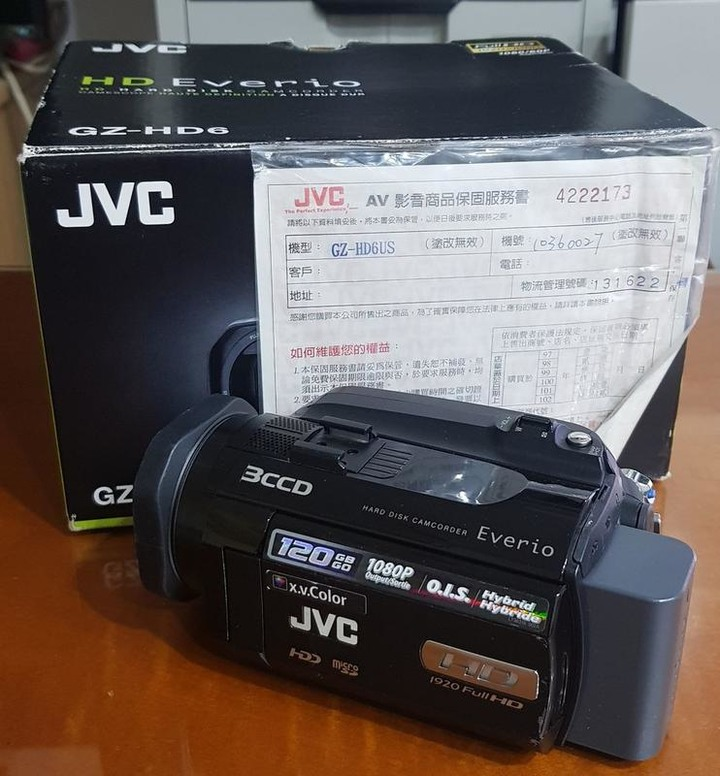 JVC GZ-HD6U硬碟式120G攝影機傑偉世公司貨