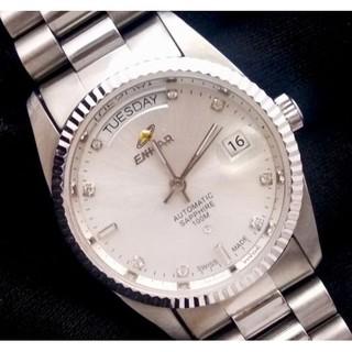 ENICAR 英納格恆動晶鑽機械腕錶 防水100M 盒單完整