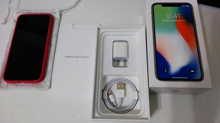 iphone x 256G 銀 白 女用機如新