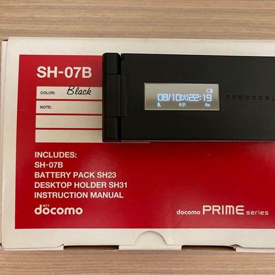 復古告白專用機【日式手機 】Sharp SH-07B 盒裝完整版(保存完美近全新)