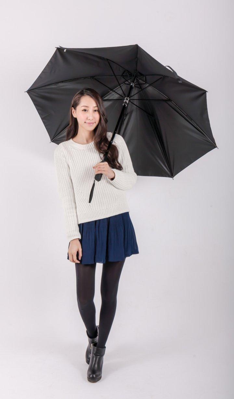 Mobile01小惡魔電動長傘 (黑色)