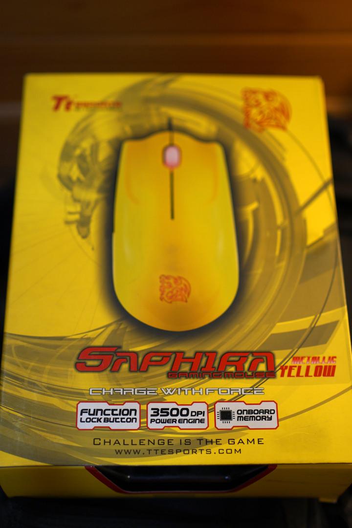 Tt eSPORT 曜越 SAPHIRA 聖武士 有線 電競滑鼠 黃色
