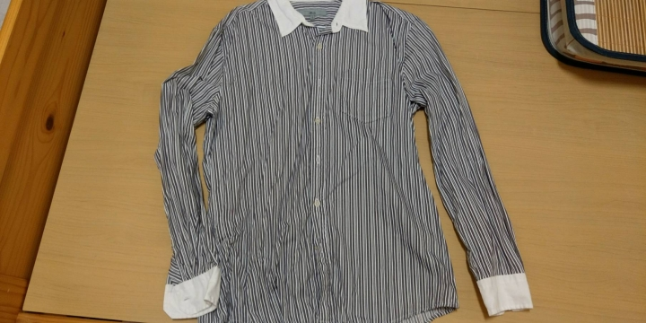 G2000長袖條紋FIT襯衫