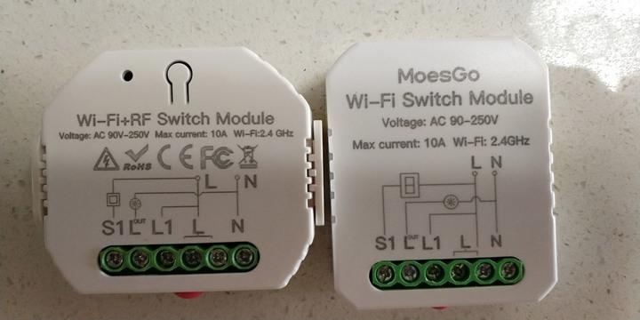 塗鴉智能方案1路WIFI智能燈開關 Diy斷路器模塊