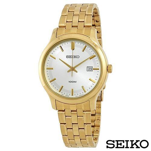 SEIKO精工 卓越耀眼金系風尚石英腕錶
