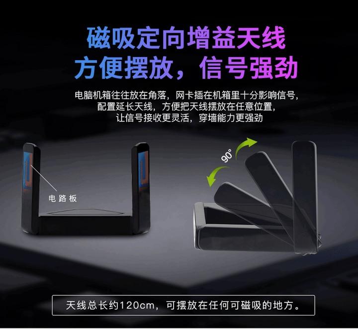 fenvi 奮威 5G 雙頻天線 2.4G/5.8G 無線wifi 全向高增益 8dbi 10dbi 穿牆 磁吸 SMA