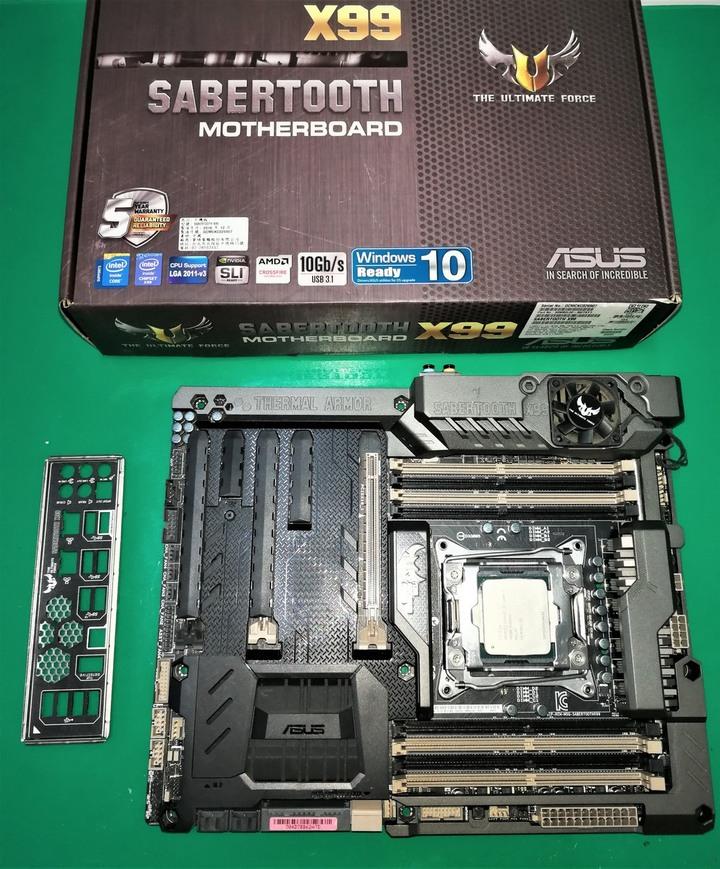 可分售 自取 華碩 ASUS Sabertooth X99 保內 2022/04 Intel E5-1680V3 8C16T