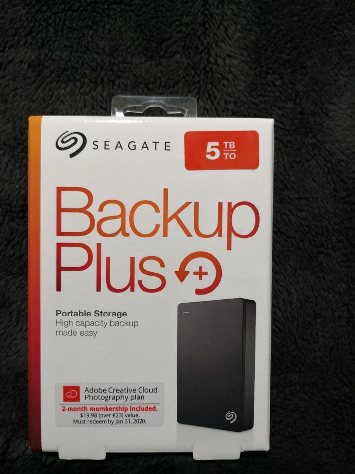 【可使用振興券】 [全新未拆封] Seagate Backup Plus 5TB USB3.0 2.5吋行動硬碟