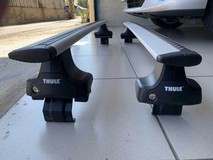 TOYOTA 2代/2.5代wish用THULE Wingbar靜音鋁桿 754腳座(付鎖)