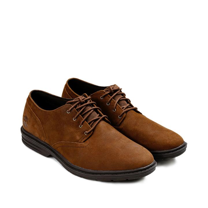 Timberland Sawyer Lane男款深咖啡正絨面牛津休閒鞋 - US10.5