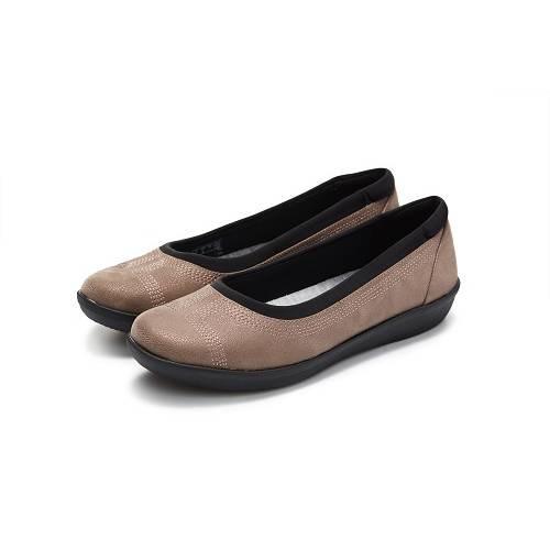 Clarks CLOUDSTEPPERS Ayla Low女休閒鞋 銅色 - UK4.5(JPY 24cm)