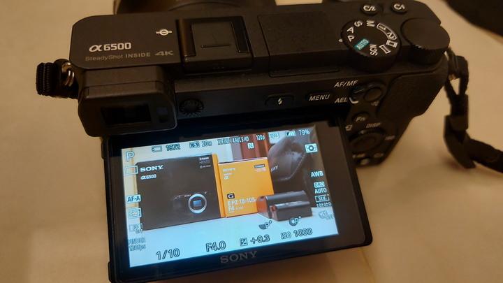 品相良好SONY A6500相機單機身與配件