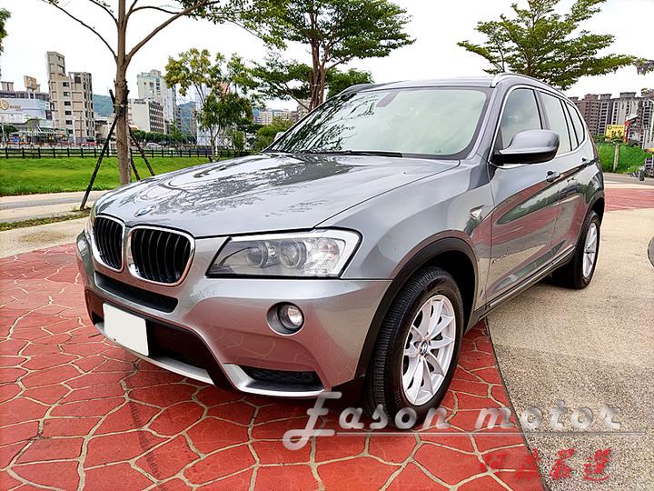 2011年BMW X3 xDrive20d 總代理 全景天窗 X Line套件 雙區恆溫 衛星導航 倒車顯影 豪華美車 全額貸款 可議價