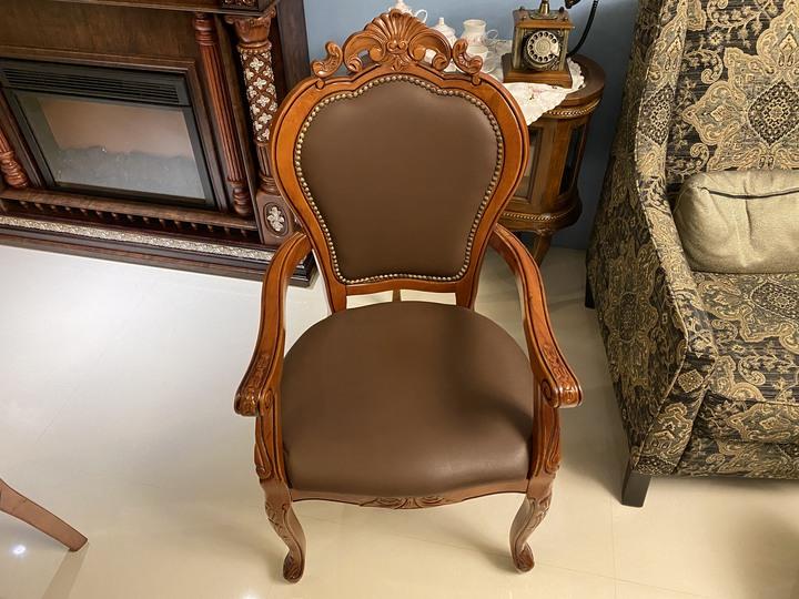 歐式實木雕紋扶手椅 低價出售