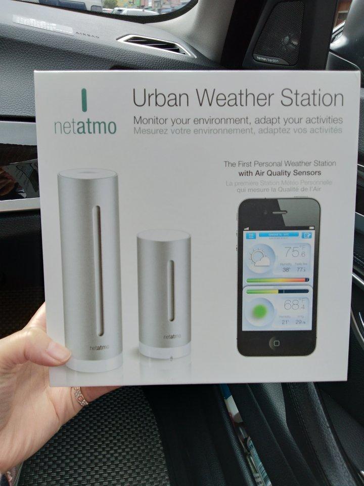 2顆裝 Netatmo 氣象站
