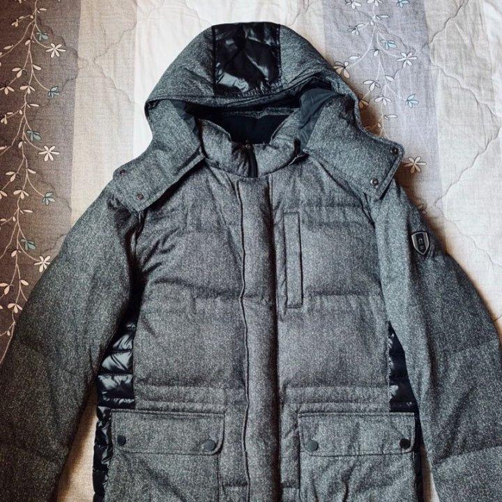 企鵝男裝 Munsingwear 企鵝男裝 羽絨防風外套 連帽 灰色
