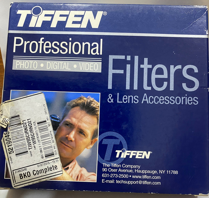 TIFFEN PROFESSIONAL WIR/WHT IR 95mm ND 2.1(減7格)減光鏡