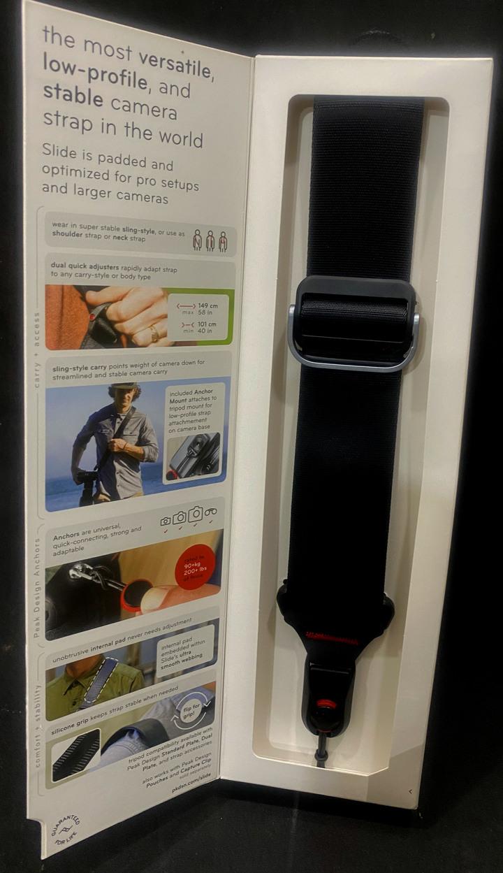 全新未拆封PEAK DESIGN 快裝神奇背帶 Slide-黑-寬版 相機減壓背帶