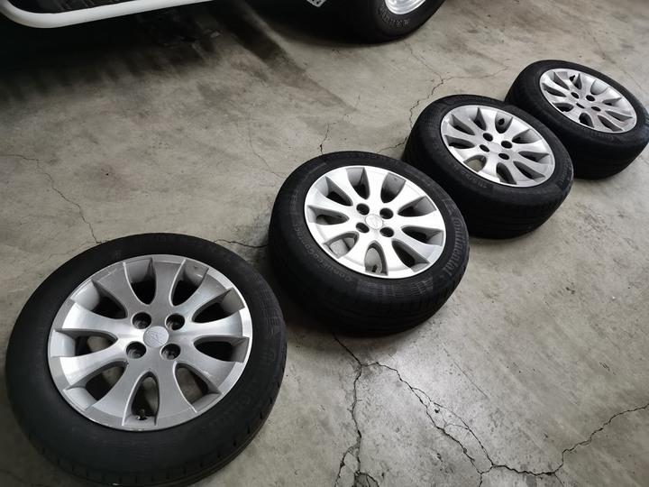 DAIHATSU 大發 COO 15吋 原廠鋁圈+馬牌輪胎 4孔100