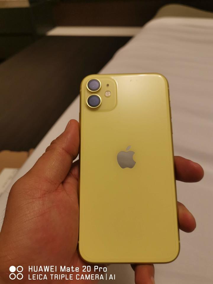 iphone 11 128G 黃 全機如新 1/30開通 前後保護貼 鏡頭藍寶石貼 hoda 保護殼 多附前保護貼及後膜