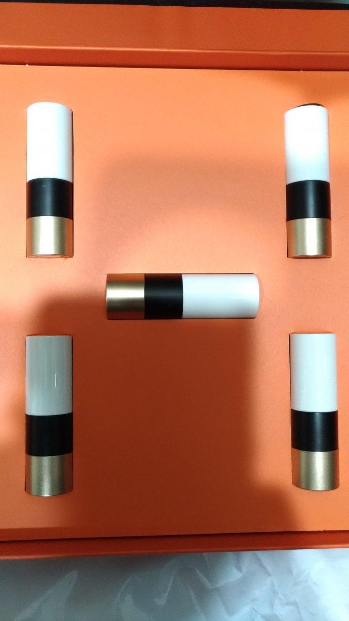 Hermes 愛馬仕 新春禮盒小樣口紅 五件套 彩妝組合 色號21-33-75-68-85