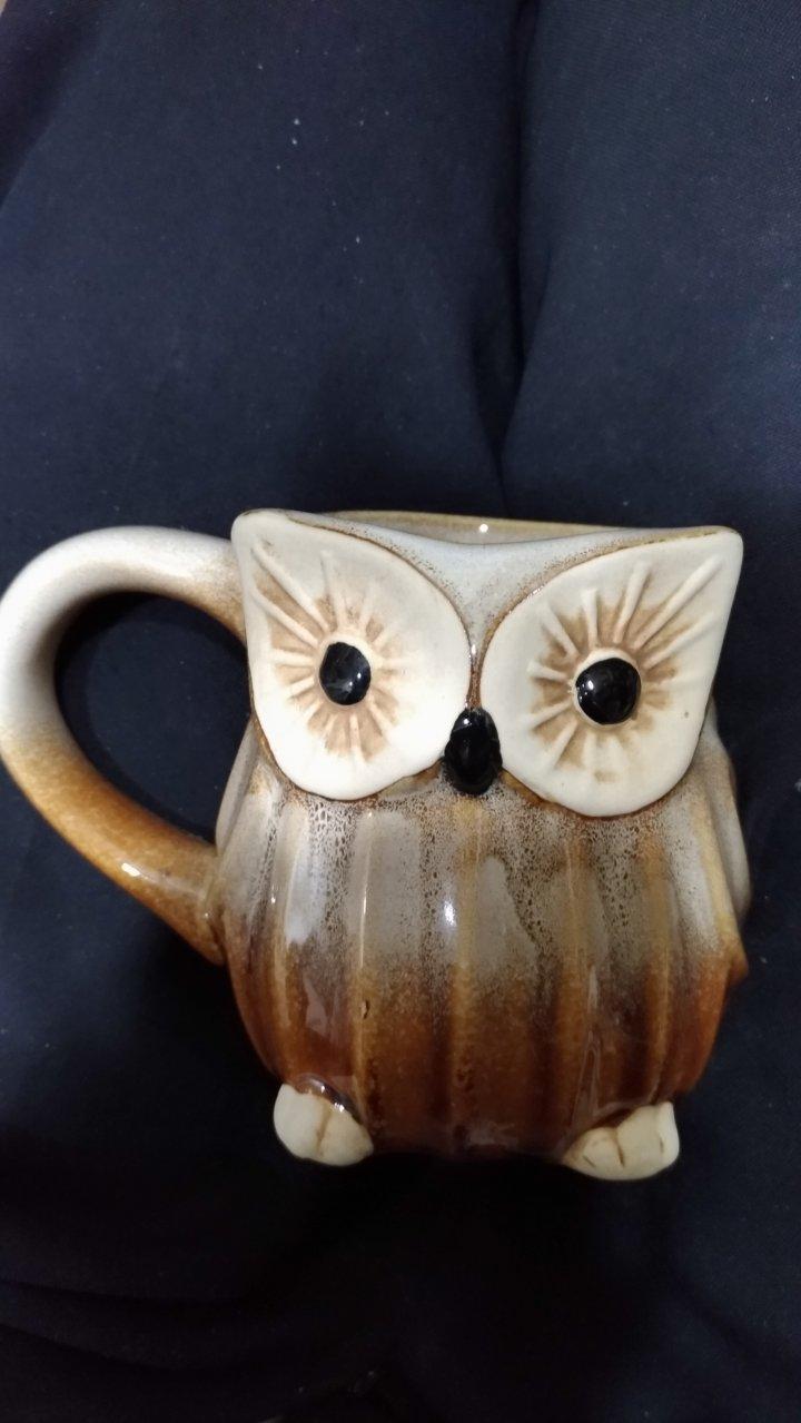 陶瓷 貓頭鷹 馬克杯 杯子