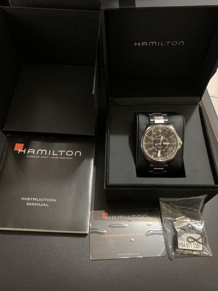 二手美品 HAMILTON H64611135 漢米爾頓 手錶 Khaki Pilot 42mm 飛行員航空錶 男錶