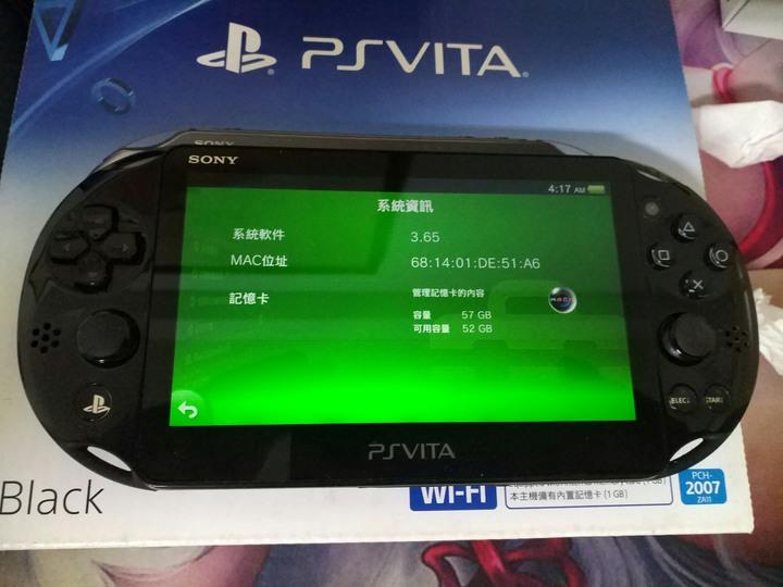 【出售】PS VITA 2007(PSV) 黑 或 水藍 + 64GB記憶卡 共兩機出售(2016年生產)