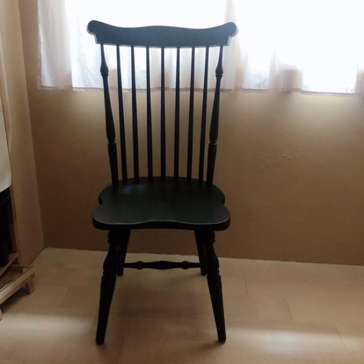 「捐兒福」二手 黑色溫莎椅 餐椅 桃園自取