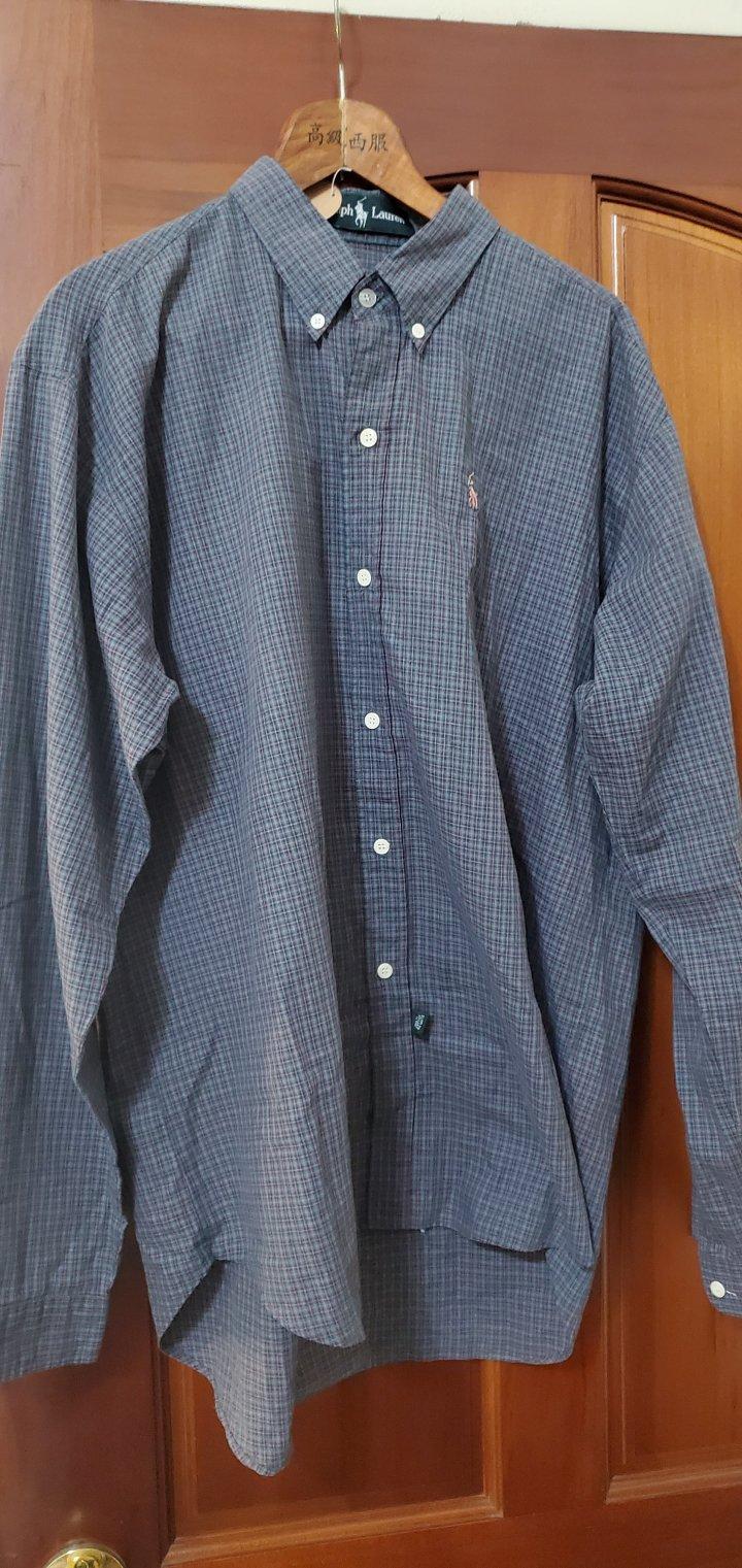 Ralph Lauren polo 綠格紋襯衫