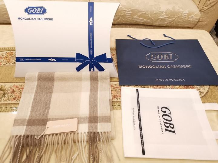 加長加厚款 名牌GOBI 100%喀什米爾純羊毛披肩圍巾 3個花色 精美禮盒 尾牙過年送禮