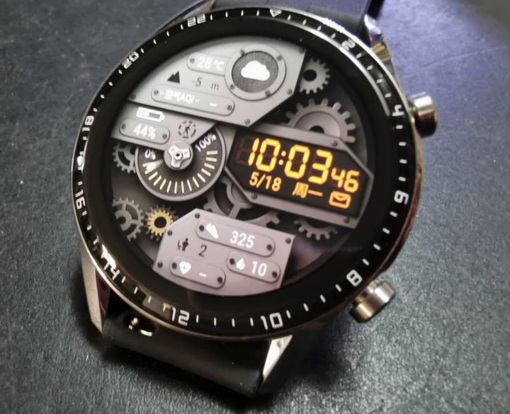 華為GT2智慧錶42mm附皮錶帶原廠及矽膠錶帶