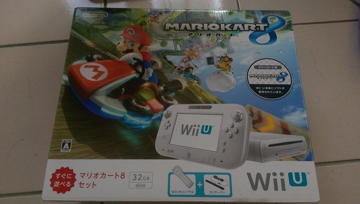 瑪利歐賽車Wii U 32G白色同捆,完整盒裝