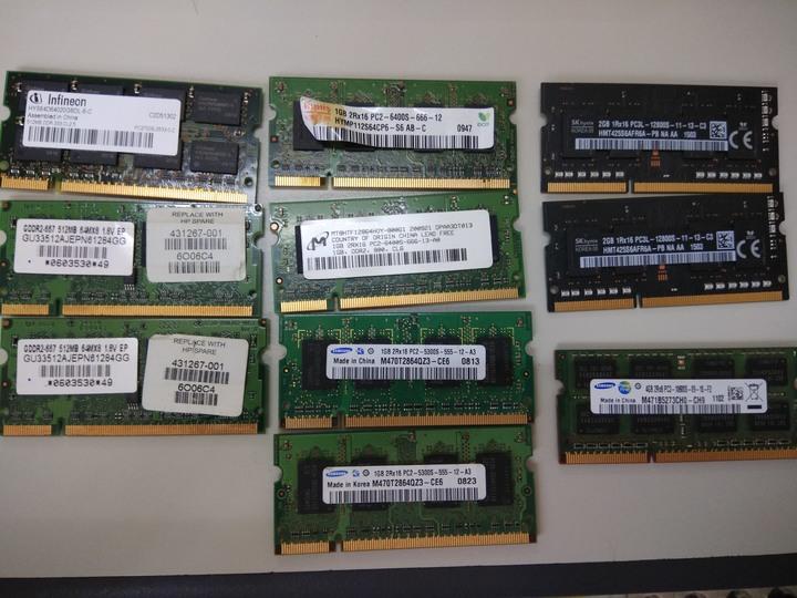 NB RAM 一批 4G*1 2G*2 1G*4 512*3 全部 300.-