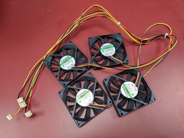SUNON 建準8cm公分系統散熱風扇  KDE1208PHV3 12V 1.3W 3P
