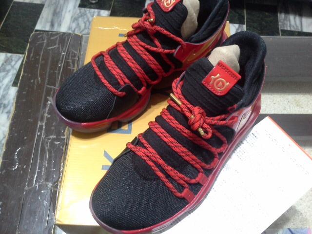 Nike KD 10  紅黑 金Logo   全新正品公司貨   24.5cm