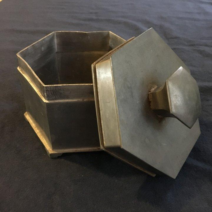 六角鋁製茶葉盒