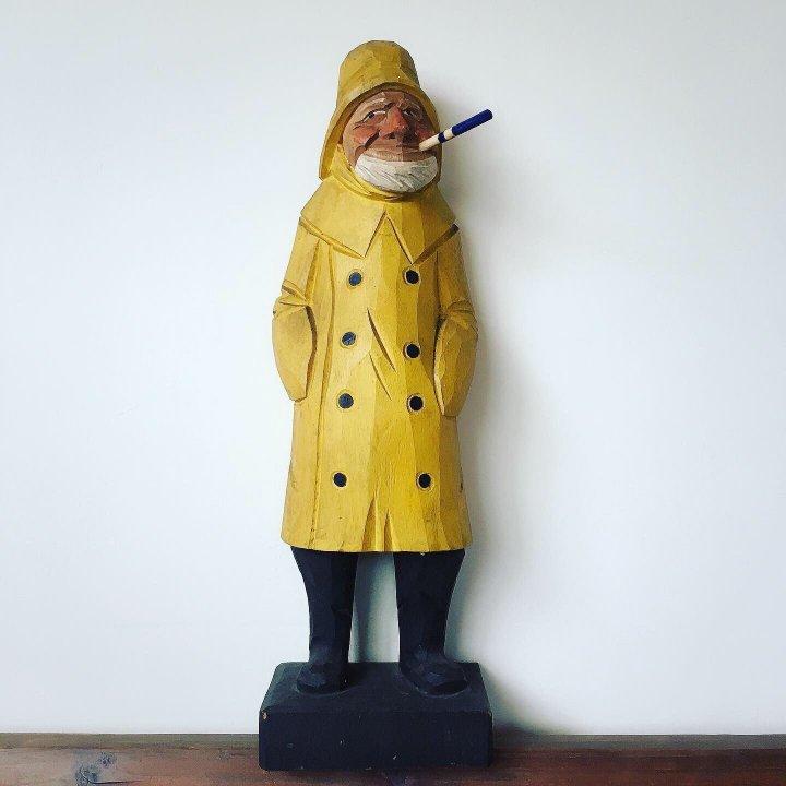荷蘭水手的木雕人偶作品