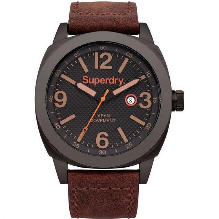 Superdry極度乾燥 潮流腕錶 SYG144TB 咖啡 45mm