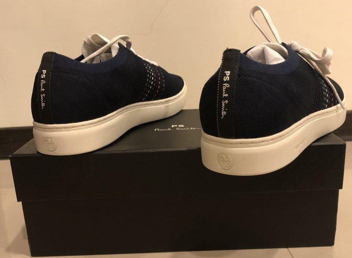 Paul Smith PS 彩色條紋 針織風 運動鞋 休閒鞋 UK:11號 海軍藍