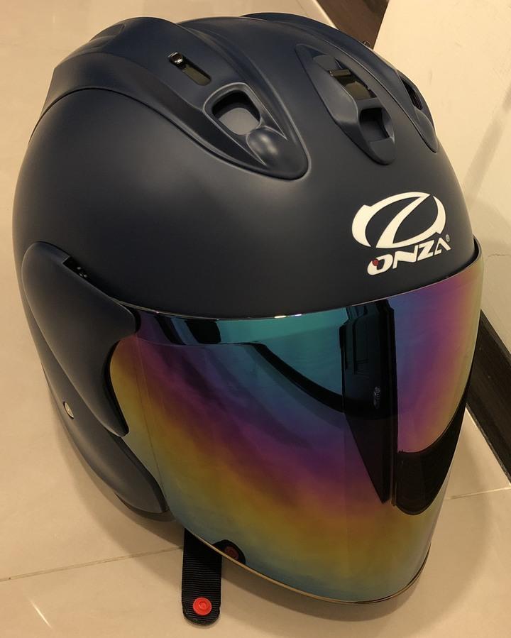 {ONZA} 日本 MAX R6 六代 半罩安全帽 雙D扣 特殊 消光海軍藍