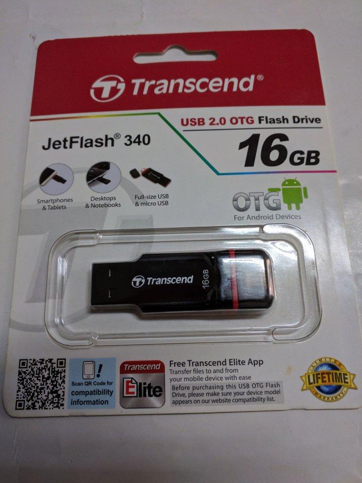 創見 Transcend 16GB JetFlash 340 OTG 隨身碟(JF340)