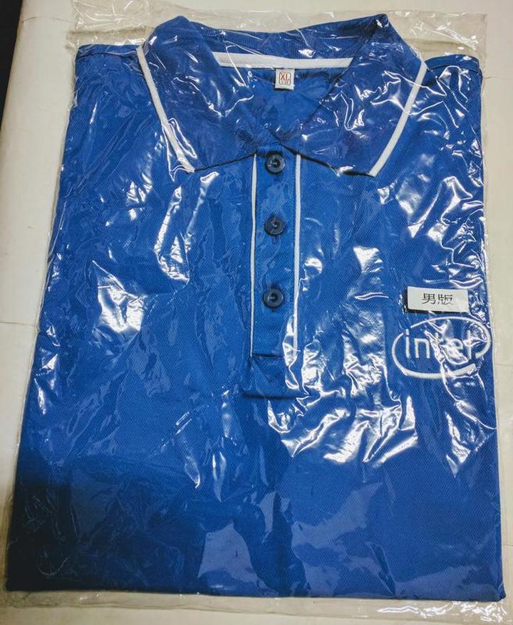 (全新) 英特爾-Intel Polo 衫 (Size: XL) (淺藍)