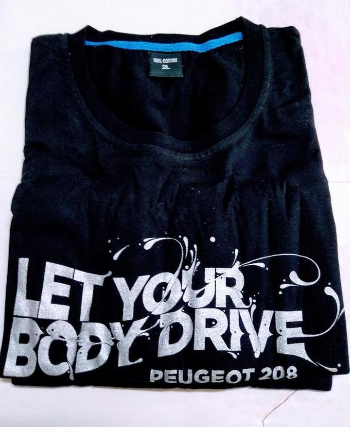(全新) 法國寶獅汽車-Peugeot T恤 (Size: 2L)
