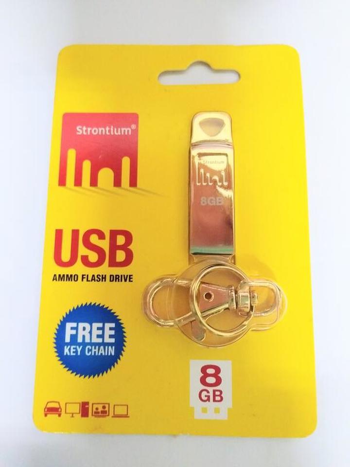 (New) 力鍶 Strontium AMMO Flash Drive USB  8 GB 時尚精品碟 (子彈金)