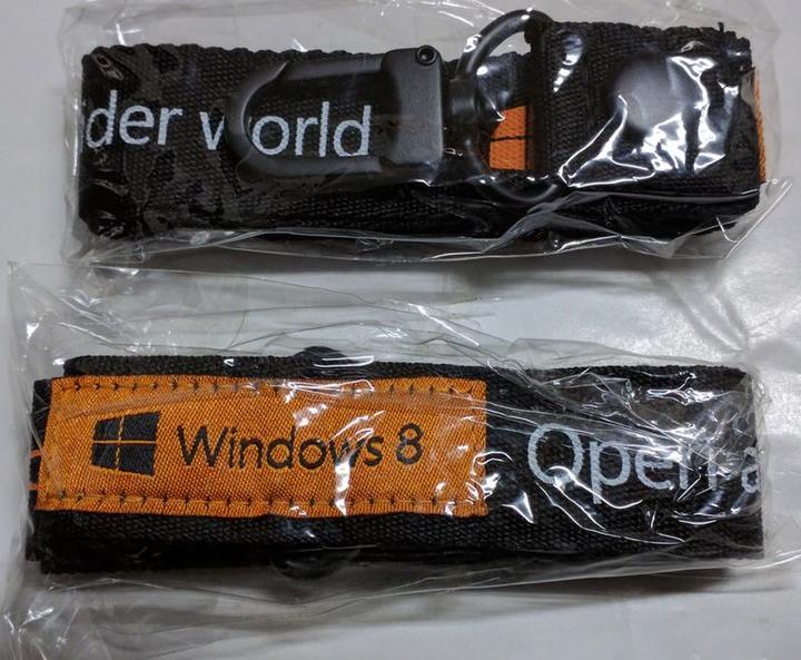 (全新) 微軟 Microsoft Windows 手機帶 識別證帶